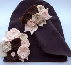 Шапка и шарф. Рост: 60-68, 68-74, 74-80, 80-86, 86-98, 98-104 см
