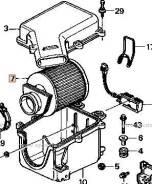 Фильтр воздушный. Honda Legend, E-KA5