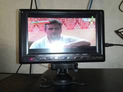 Компактный телевизор автомобильный 12v, также работает от розетки.