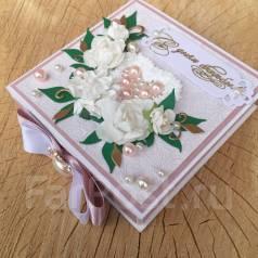 Открытка-коробочка - С Днём Свадьбы! Ручная работа