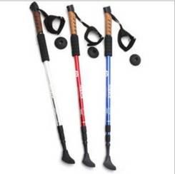 Палки для ходьбы телескопические с амортизатором. Цена за пару!