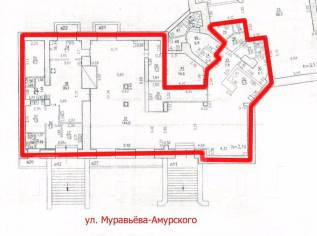Сдам в аренду помещение на красной линии города. 268 кв.м., улица Муравьева-Амурского 44, р-н Центральный
