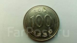 Корея 100 вон 2012 год