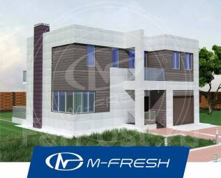 M-fresh Сапфир (Готовый проект дома с плоской кровлей! Посмотрите! ). 200-300 кв. м., 2 этажа, 4 комнаты, бетон