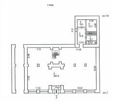 Аренда 741 кв. м. 741,0кв.м., ул. Центральная, р-н центр. План помещения