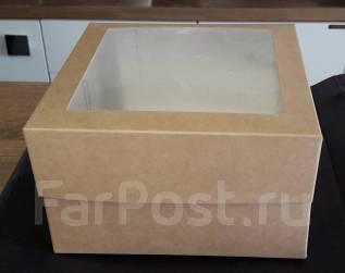 Продам упаковку крафт, коробочка с окошком размер 170ммx170ммx100мм