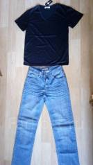 Комплектом джинсы и майка. 44, 46, 48