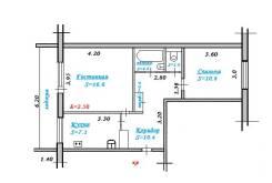 2-комнатная, бульвар Полины Осипенко 10а. лучший в городе, частное лицо, 49 кв.м.