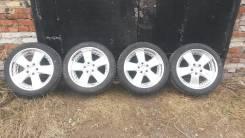 Японские диски с полкой R18 + шины 225/45 R18. 8.0x18 5x114.30 ET27 ЦО 72,0мм.