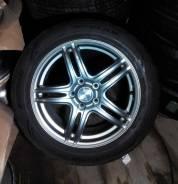 "№460. Летний комплект Hot Stuff на 17"" + Dunlop 215/55R17. 7.0x17 5x100.00, 5x114.30 ET55 ЦО 72,0мм."
