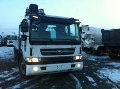 Daewoo Novus. Бортовой-грузовой на шасси с КМУ HIAB 190T, 11 051 куб. см., 15 000 кг.