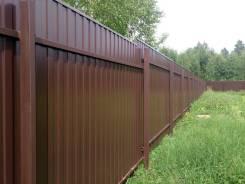 Забор из профлиста без ростверка.