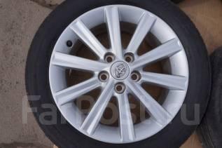 215/55R17 Летние шины с дисками Toyota Camri. Без пробега по РФ. 7.0x17 5x114.30 ET45 ЦО 60,1мм.