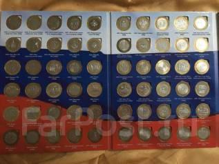 Набор биметаллических 10 на 2 монетных двора в альбоме