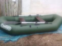 Лодка резиновая двухместная как новая!. Год: 2015 год, длина 2,60м.