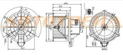 Мотор отопителя салона KIA SOUL 09-14 SAT ST-97113-2K000