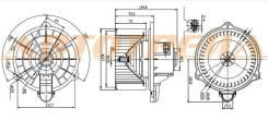 Мотор отопителя салона KIA SOUL 09-14 ST971132K000
