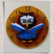 """Часы настенные """"Мудрая совушка""""! шикарный подарок для учителя!"""