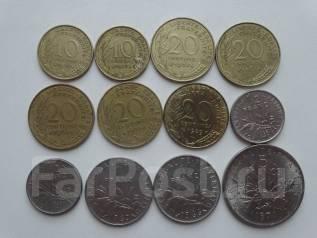 Франция подборка из 12 монет. Без повторов! Торги с 1 рубля!