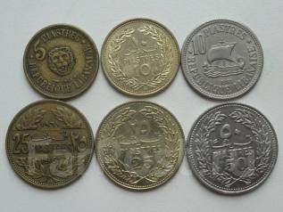 Ливан подборка из 6 монет. Без повторов! Торги с 1 рубля!