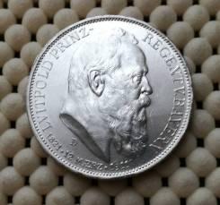 Бавария (Германия) 3 марки 1911г. aUNC Ag900