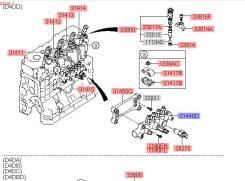 Трубка топливная. Hyundai County, HD Hyundai Mighty, HD Двигатель D4DD