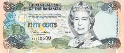 Багамские острова Банкнота 50 центов 2001 год