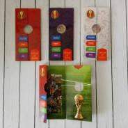 Буклет под две монеты 25р Футбол (простая+цветная)! ЧМ 2018