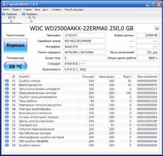 Жесткие диски 3,5 дюйма. 250 Гб, интерфейс SATA. Под заказ