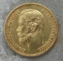 Монета 5 рублей 1898г золото