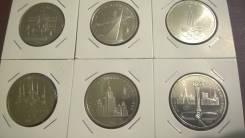 Юбилейные Монеты СССР - 1 рубль Олимпиада 80 - ВСЕ 6 Монет . АЦ