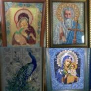 Продам иконы и карты вышитые бисером.
