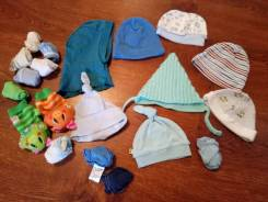 Шапочки, Царапки, носочки для новорожденного. Рост: 50-60, 60-68 см