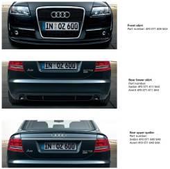Обвес кузова аэродинамический. Audi A6, 4F2/C6, 4F5/C6 Audi S6 Audi A6 Avant, 4F5, C6