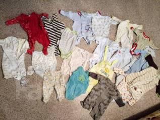 Большой лот детской одежды 0-6мес. Рост: 50-60, 68-74 см