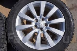 235/55R18 Зимние шины с дисками Mitsubishi. Без пробега по РФ. 7.0x18 5x114.30 ET46 ЦО 67,1мм.
