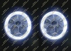 Диодные туманки+ангельские глазки Lexus GS250, GS300h, GS350, GS450h (LED, ДХО Лексус) с 12г.-