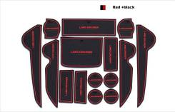 Коврики в ниши дверей, панелей Toyota Land Cruiser 200 красная окантов. Toyota Land Cruiser, UZJ200, GRJ79K, J200, VDJ200, UZJ200W, GRJ76K, URJ202W, U...