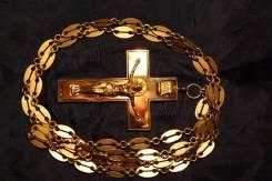 Золотой наградной наперсный крест. Н. Немиров-Колодкин, Москва, 1870 г. Оригинал