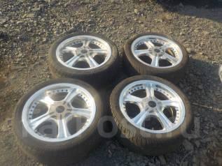 Комплект колес R17 + резина лето. 7.0x17 4x114.30, 5x114.30 ET45