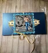 Мужской конверт для денежного подарка ручная работа vlcard