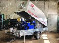 Рускомтех. Каналопромывочная машина на прицепе «Ураган» для труб 300/500/700 мм. Под заказ