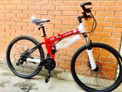 Новый корейский складной двухподвесный взрослый велосипед