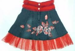 Юбки джинсовые. Рост: 116-122, 122-128, 128-134, 134-140 см