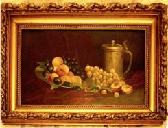 Антикварная картина натюрморт столетней давности оригинал, обмен