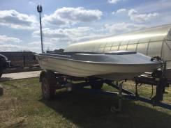 Продам пластиковую лодку. Год: 2015 год, длина 3,50м., двигатель подвесной