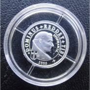 5 франков.2005г. Конго. Папа Стефан IX. Серебро. RARE. Proof.