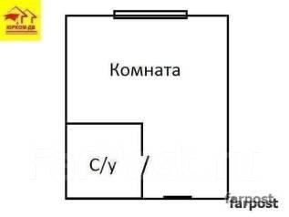 Гостинка, улица Надибаидзе 28. Чуркин, проверенное агентство, 18 кв.м. План квартиры