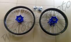 Комплект колес 1.6*21&2.15*18 Черный обод/Синяя ступица YZ250F/YZ450F (09-10)