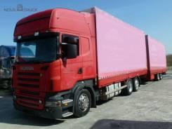 Scania R. Автопоезд 420LB + прицеп Kogel YN 18 P, 11 705 куб. см., 14 100 кг.
